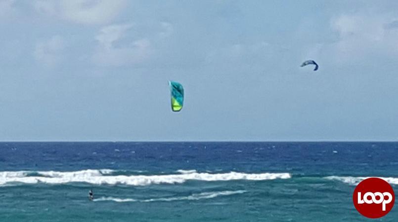 Kite surfing in Barbados
