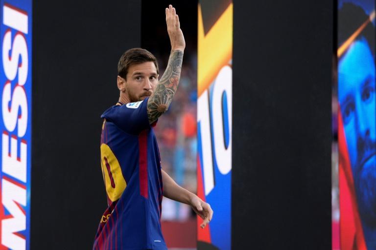 La star du FC Barcelone Lionel Messi, le 20 mai 2018 au Camp Nou Josep LAGO AFP/Archives