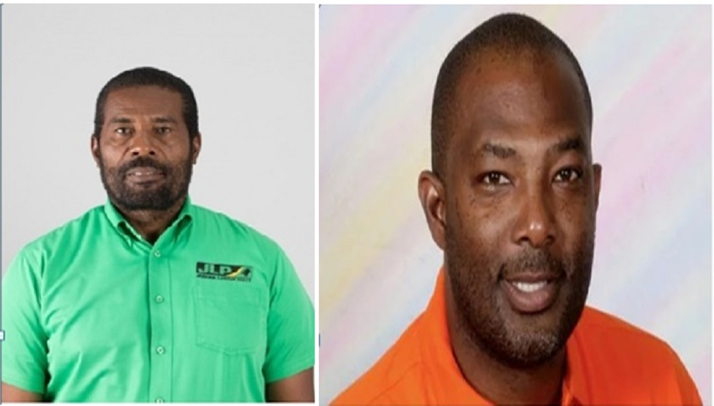 Daniel Lawrence of the Jamaica Labour Party (JLP) left, and Luther Buchanan of the People's National Party (PNP).