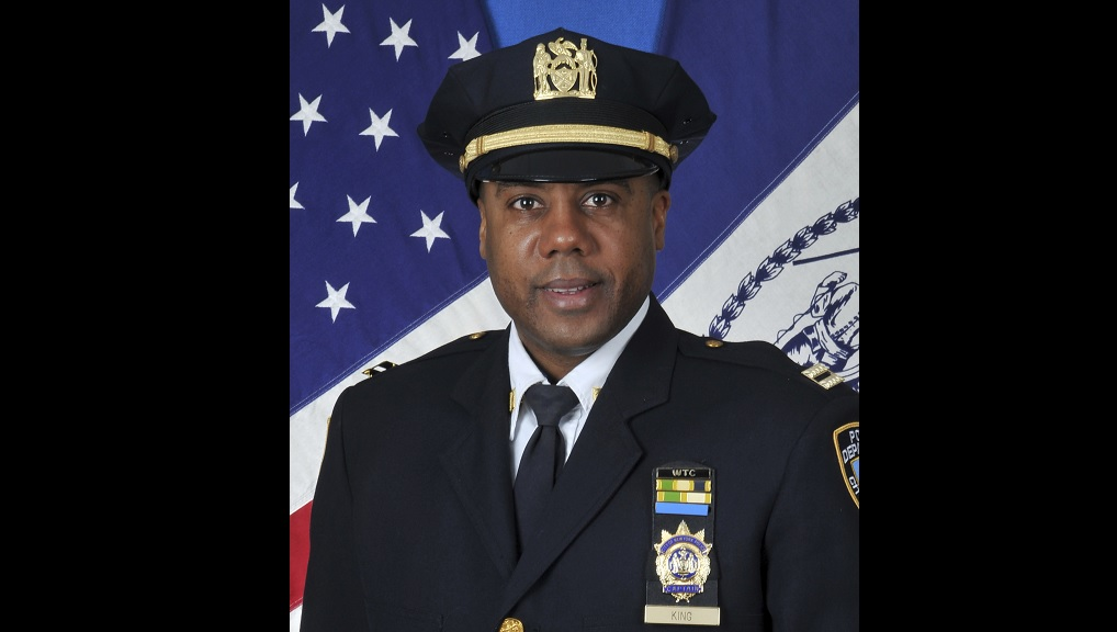 This photo, provided by the New York City Police Department, shows Deputy Inspector Michael King. (Courtesy New York City Police Department)