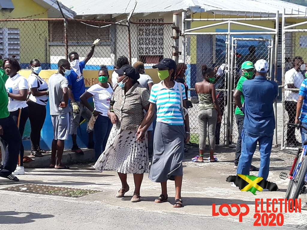 Scenes from the Annotto Bay Primary School polling station.