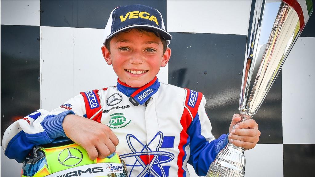 Young Jamaican go-kart champion Alex Powell.