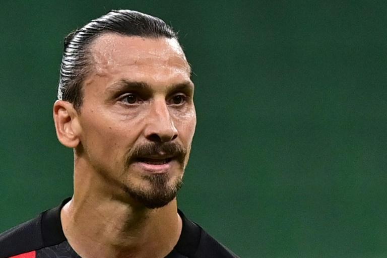 Le grand attaquant suédois de l'AC Milan Zlatan Ibrahimovic, le 21 septembre 2020 à San Siro afp.com - MIGUEL MEDINA