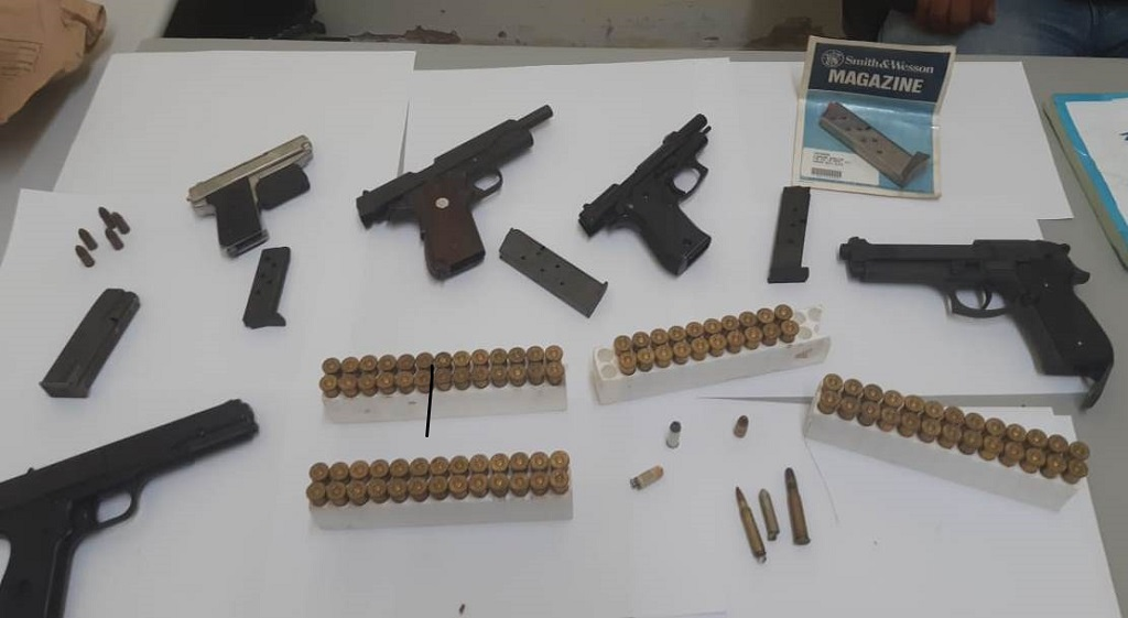 The gun and ammunition bust made by the police on Tuesday, September 29.