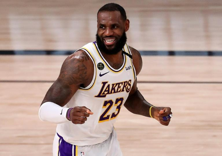 LeBron James, des Los Angeles Lakers, le 8 septembre 2020 à Lake Buena Vista