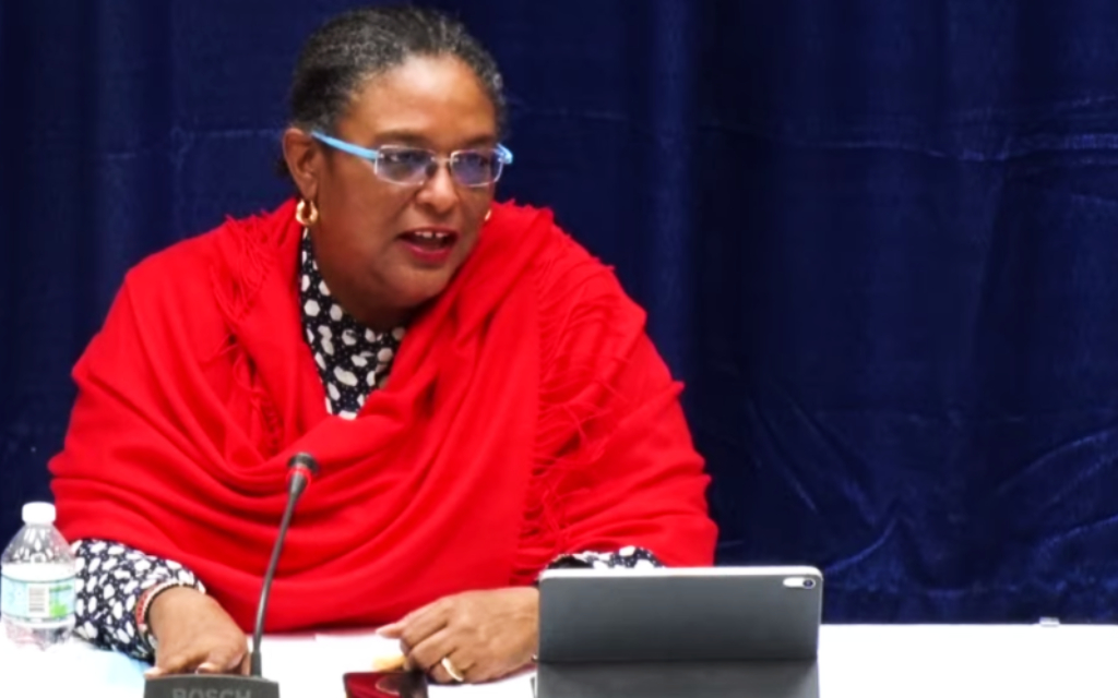 (FILE) Barbados Prime Minister Mia Mottley
