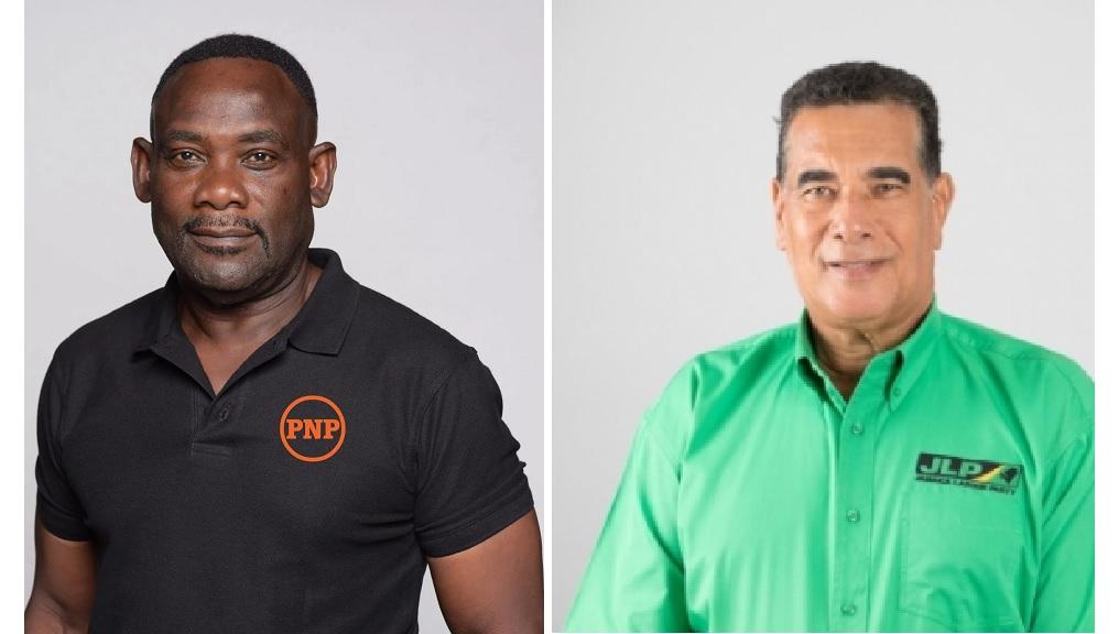 The PNP's Walton Small (left) and the  JLP's Homer Davis.