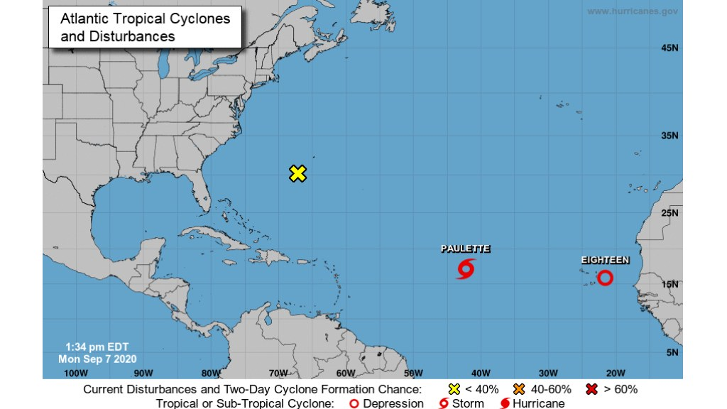 2 tropical storms, Paulette and Rene, form in the Atlantic
