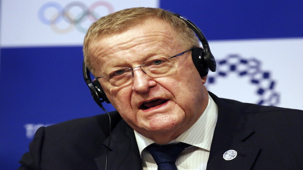 In this Dec. 5, 2018, file photo, John Coates, the leader of the IOC's coordination commission for the Tokyo Olympics, speaks during a press conference in Tokyo. (AP Photo/Koji Sasahara, File).