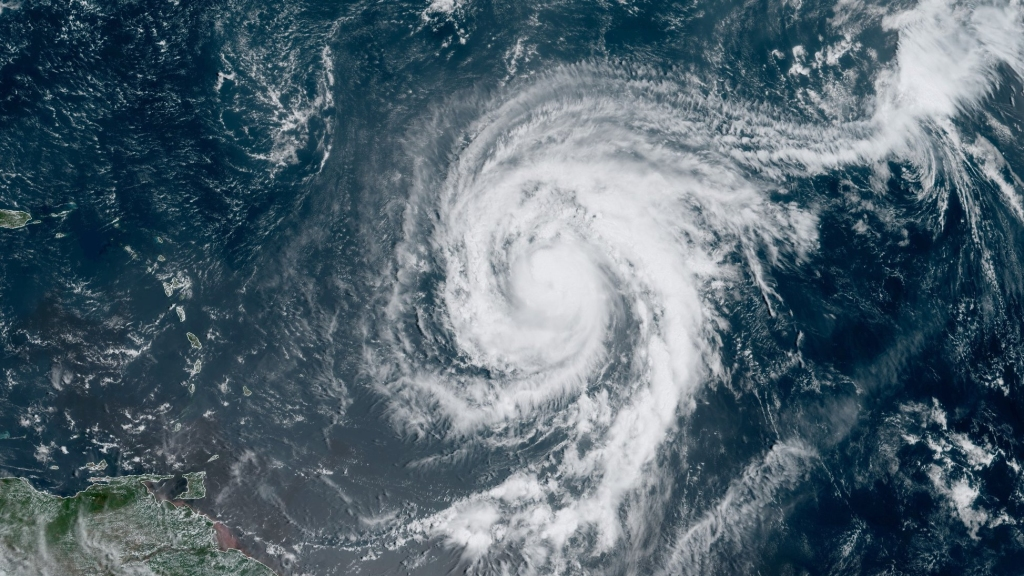 Hurricane Teddy. Photo: US National Hurricane Centre