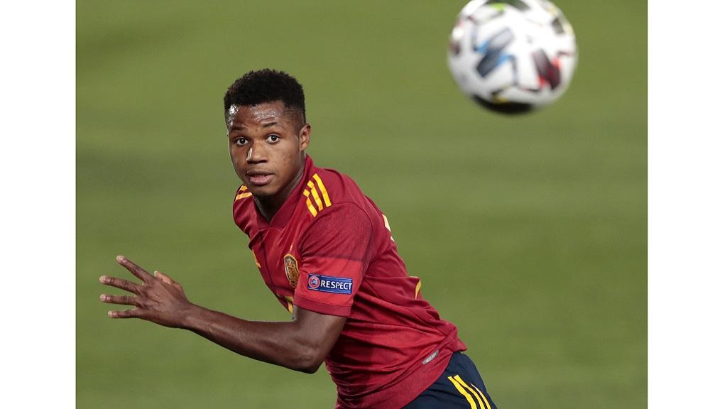 Fati Becomes Youngest Spain Scorer In 4 0 Win Over Ukraine Loop News