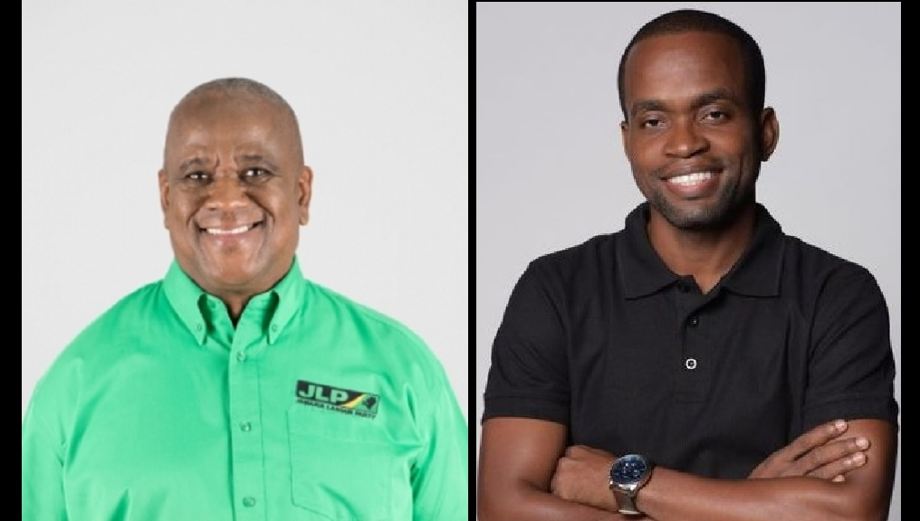 The JLP's Franklyn Witter (left) and the PNP's Dr Dwaine Spencer