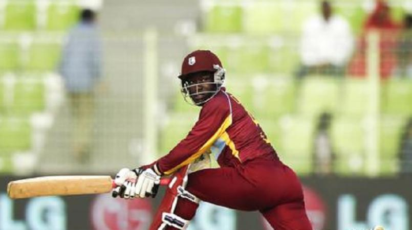 Deandra Dottin top-scored for the West Indies in the 1st T20I against England women at Derby. (Photo - Cricket West Indies)