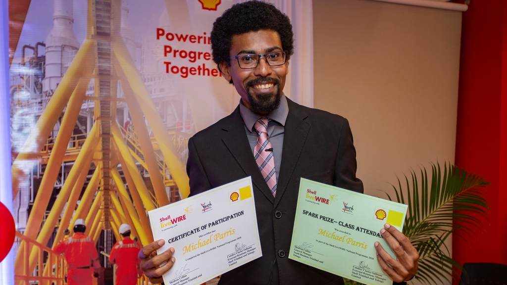 Entrepreneur Michael Parris has been shortlisted among 21 finalists for the 2020 Shell LiveWIRE Top Ten Innovators Awards.