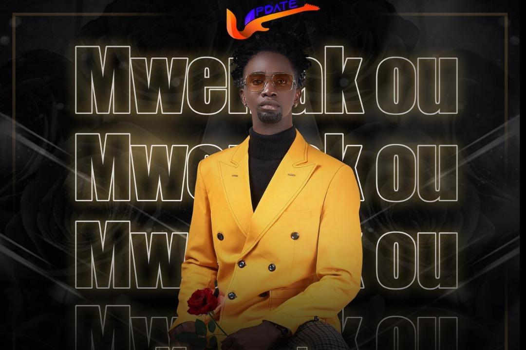 """Couverture de la chanson """"Mwen ak ou"""", premier morceau du groupe UPDATE"""