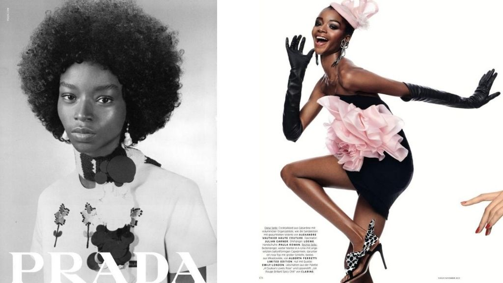 Jamaican model Kyla Ramsey is on the 29th cover of Vogue Italia's 100 covers. (Photos: via MuseModelsNYC)