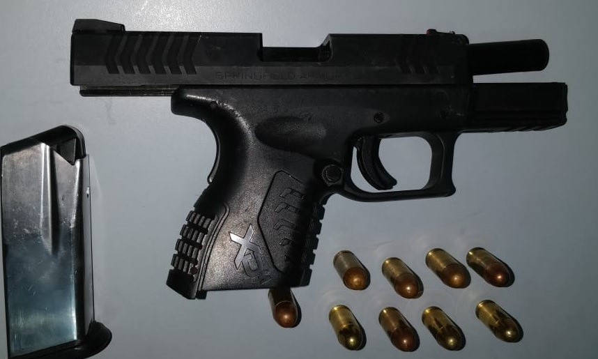 Seized: A 45-calibre pistol and matching ammunition.