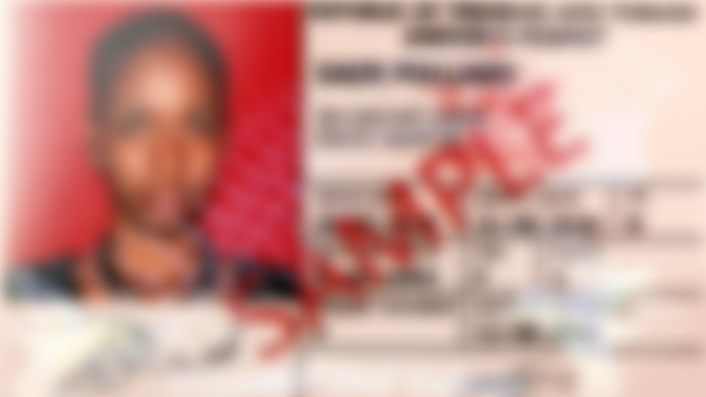 A Trinidad and Tobago driver's permit sample