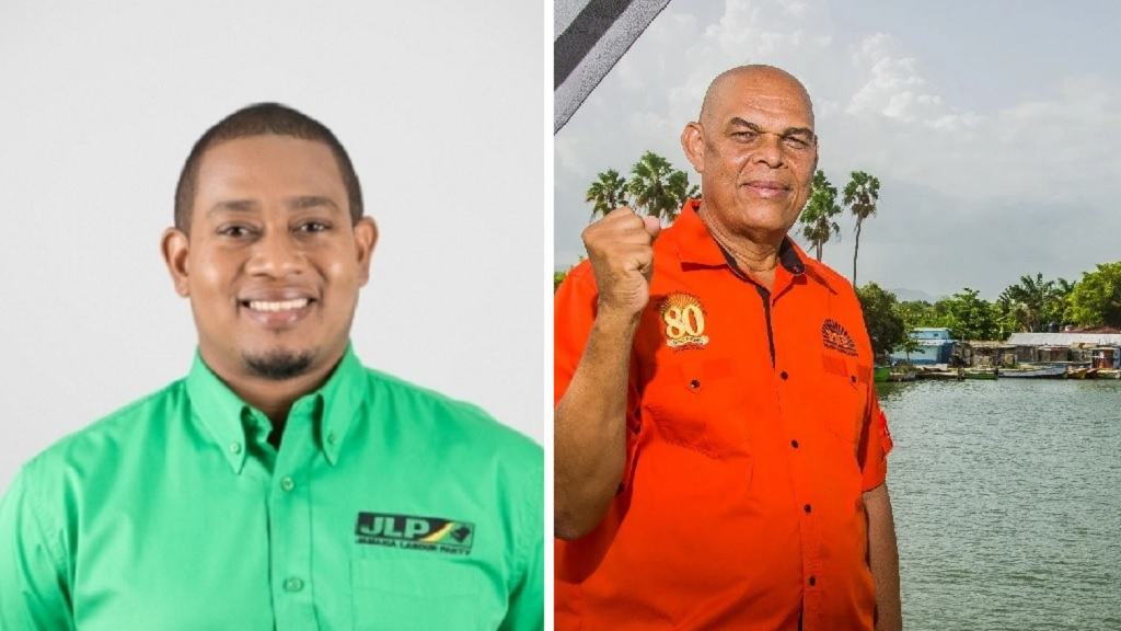 The JLP's Floyd Green (left) and the PNP's Ewan Stephenson.