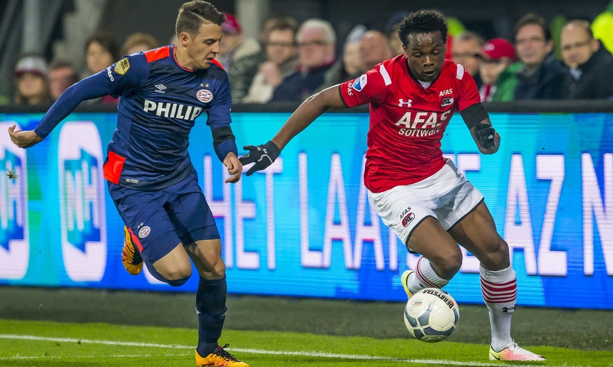 Levi Garcia in action for Dutch club AZ Alkmaar