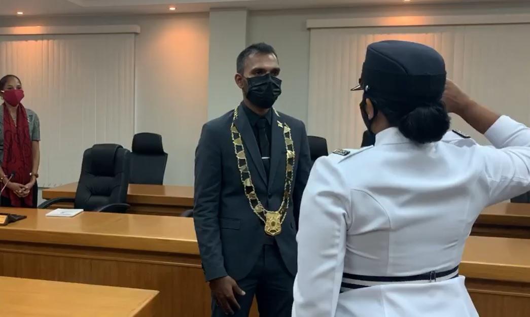 Chaguanas Mayor, Faaiq Mohammed.