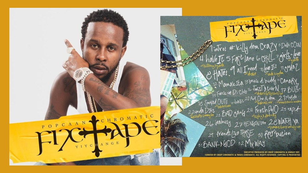 Dancehall superstar Popcaan's latest Fixtape project