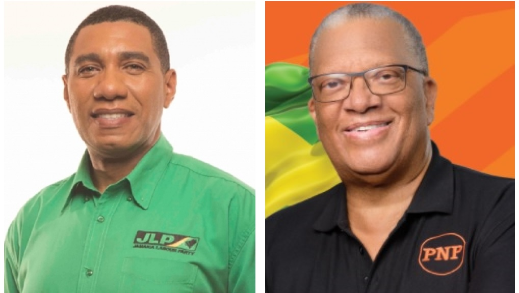 Prime Minister Andrew Holness (left) and Opposition Leader Dr Peter Phillips.