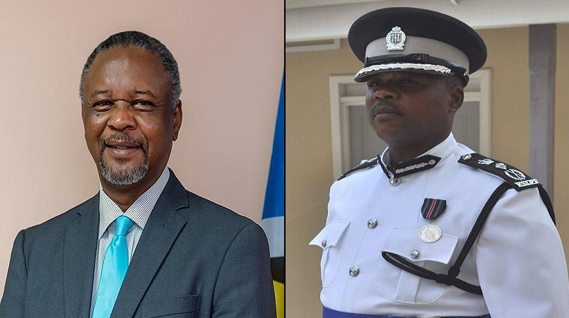 National Security Minister, Senator Hermangild Francis (left), Police Commissioner Severin Moncherry