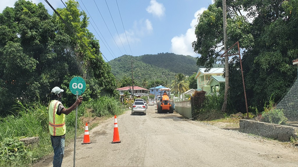 Grande Riviere road work