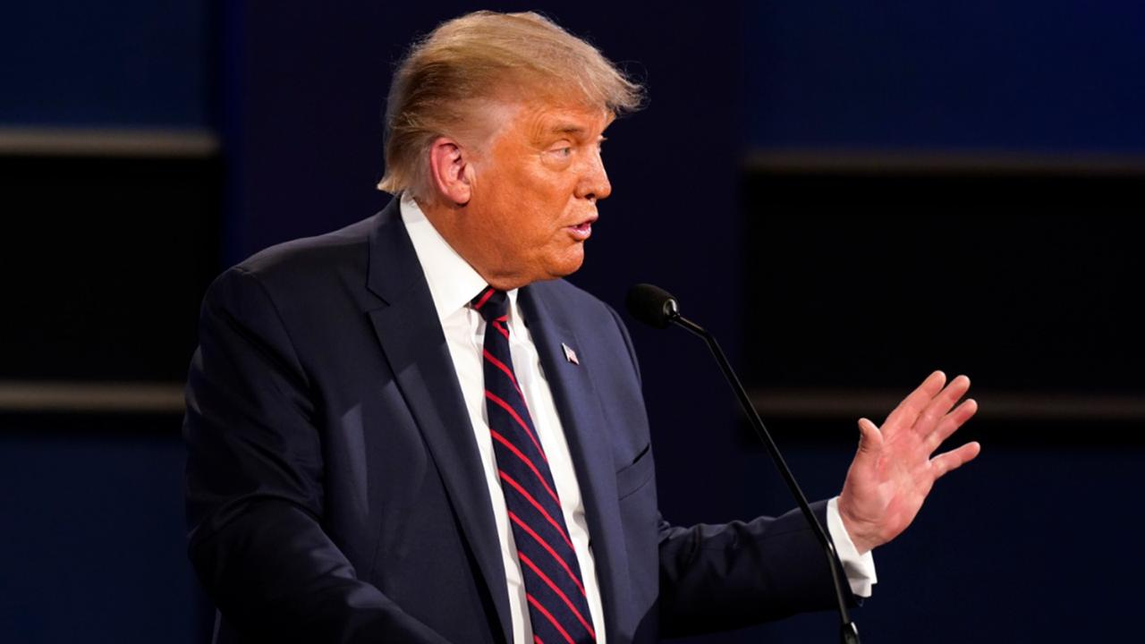 President Donald Trump speaks during the first presidential debate with Democratic presidential candidate former Vice President Joe Biden Tuesday, September 29, 2020, at Case Western University and Cleveland Clinic, in Cleveland. (AP Photo/Patrick Semansky)