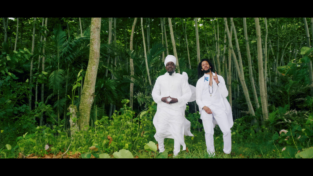 Julian Marley and Junior Reid from the set of their cideo for Mother Earth