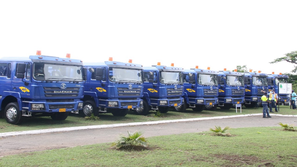 File photo of NSWMA garbage trucks at a handover ceremony.
