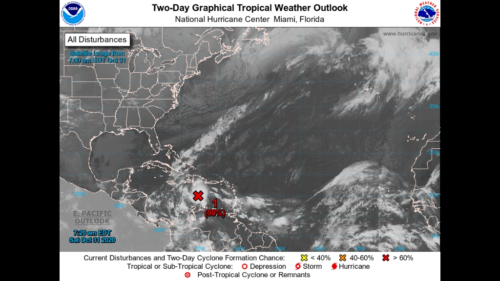 New tropical depression likely to develop this weekend