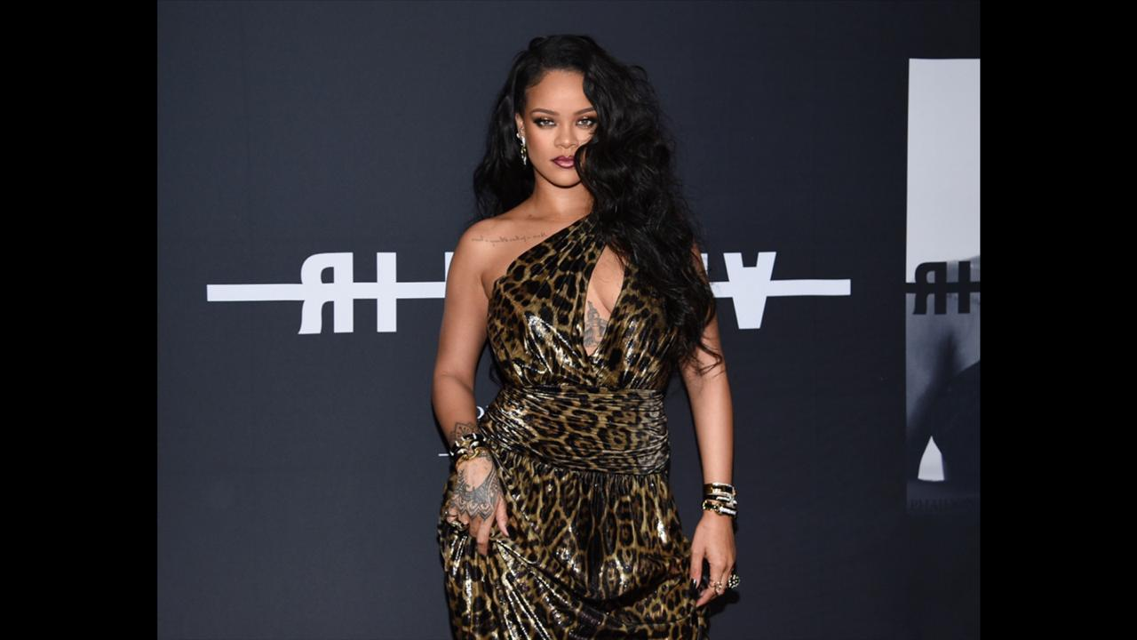 "Singer and fashion designer Rihanna attends the ""Rihanna"" book launch event in New York on October 11, 2019.  (Photo by Evan Agostini/Invision/AP, File)"