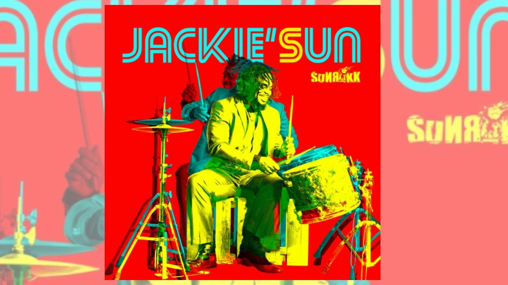 Album cover for Sunrokk's new album Jackie'Sun paying homage to Jackie Opel