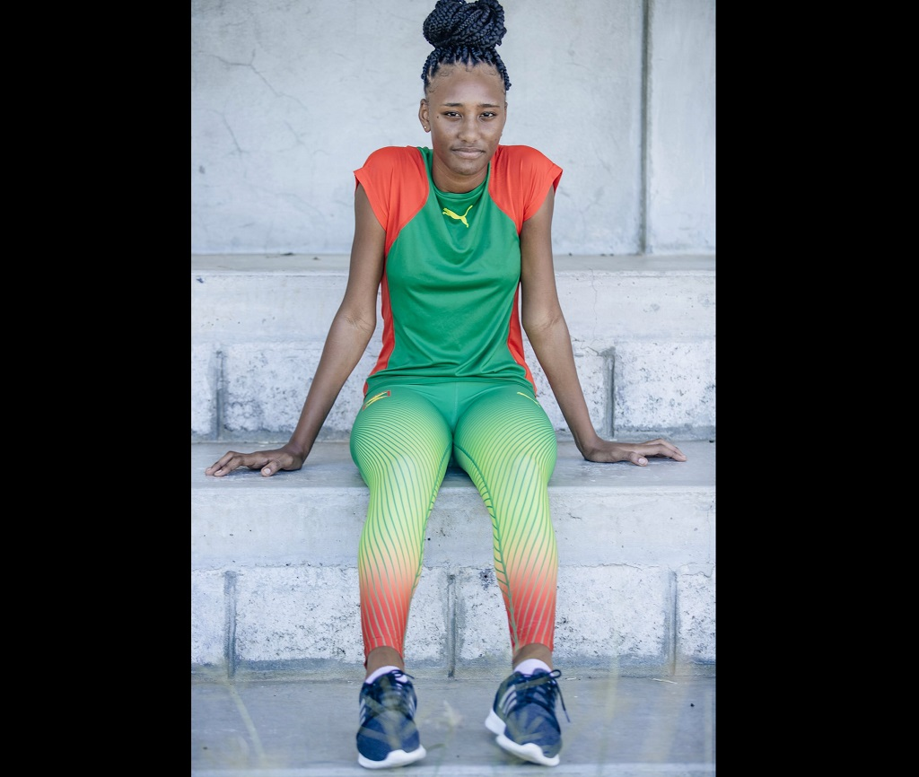 AshshareahEnoe, 17 year-old athlete from Petite Martinique. (Photo: Ministry of Carriacou and Petite Martinique Affairs and Local Government)