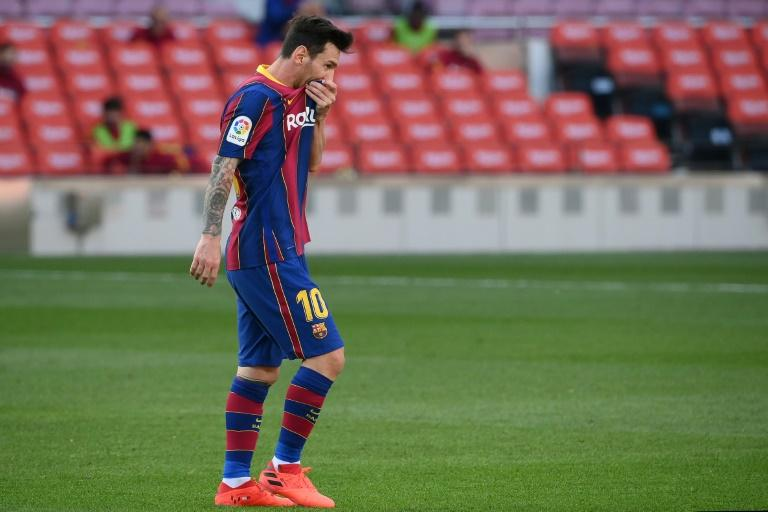 L'attaquant du Barça Lionel Messi lors du match contre le Real Madrid, le 24 octobre 2020 au Camp nou LLUIS GENE AFP
