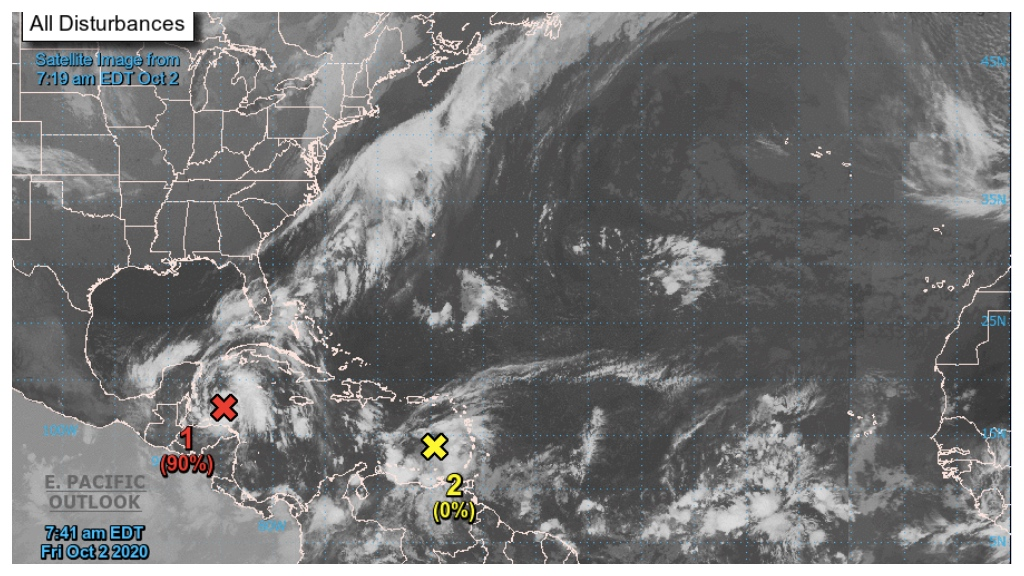 Sourced from the National Hurricane Centre (NHC)