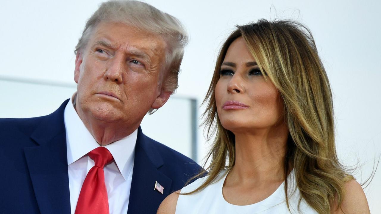 Prisident Donald Trump and First Lady Melania Trump
