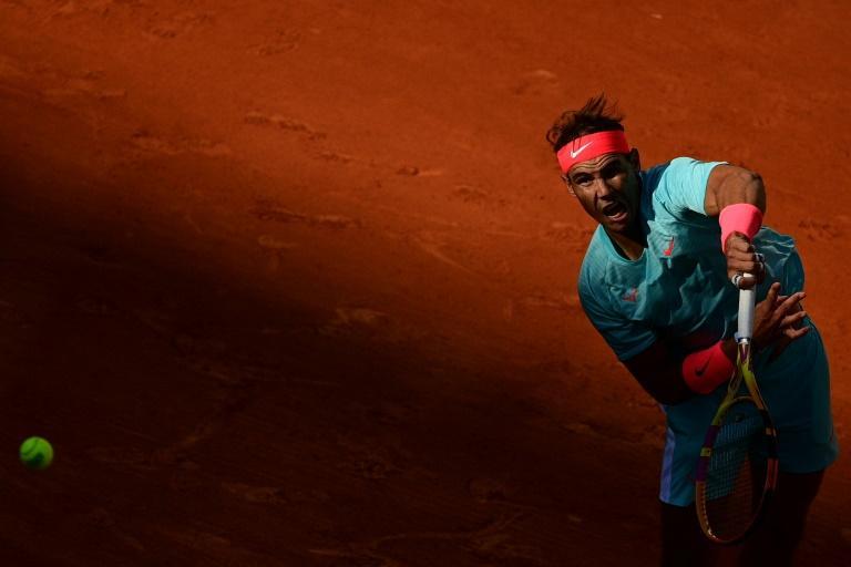 L'Espagnol Rafael Nadal face à l'Argentin Diego Schwartzman en demi-finale de Roland-Garros, le 9 octobre 2020 afp.com - MARTIN BUREAU