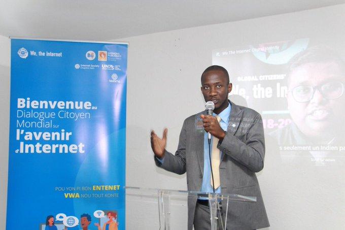 Obed Sindy, Président de l'ISOC Haïti/ Photo de courtoisie