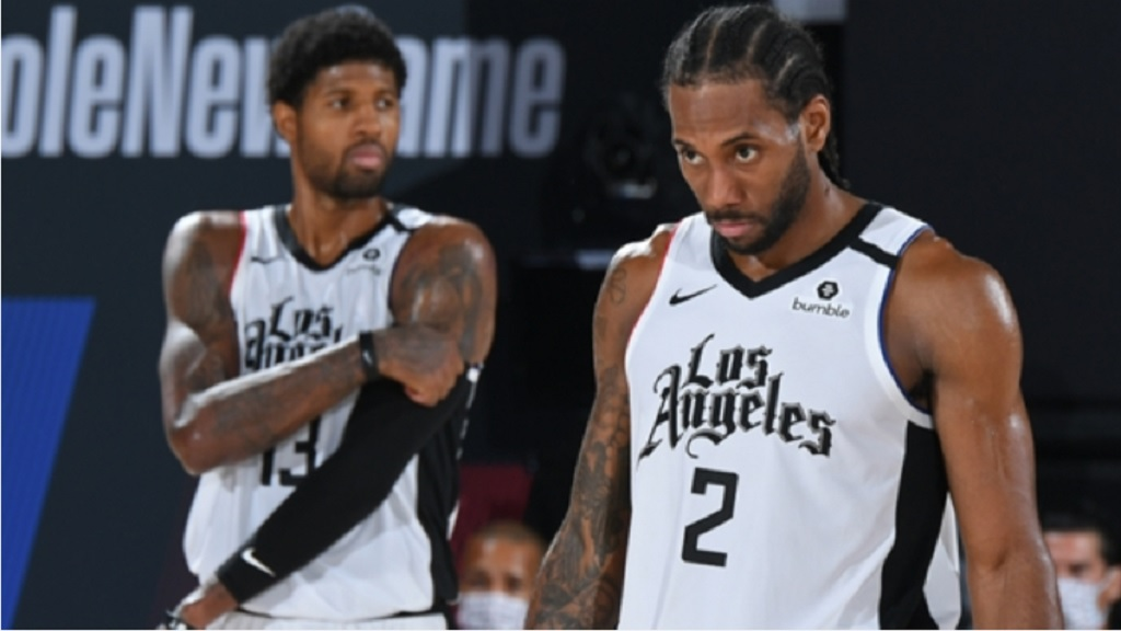 Los Angeles Clippers pair Paul George (left) and Kawhi Leonard.