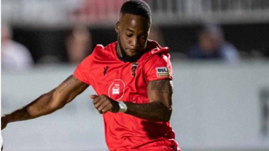 Jamaican international midfielder Junior Flemmings of Phoenix Rising.