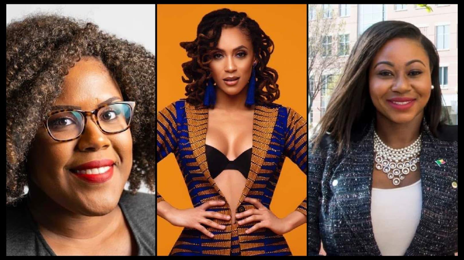 De gauche à droite: Jennifer Blemur, Phyllisia Ross et Johanna Leblanc/ Collage: Loop Haiti