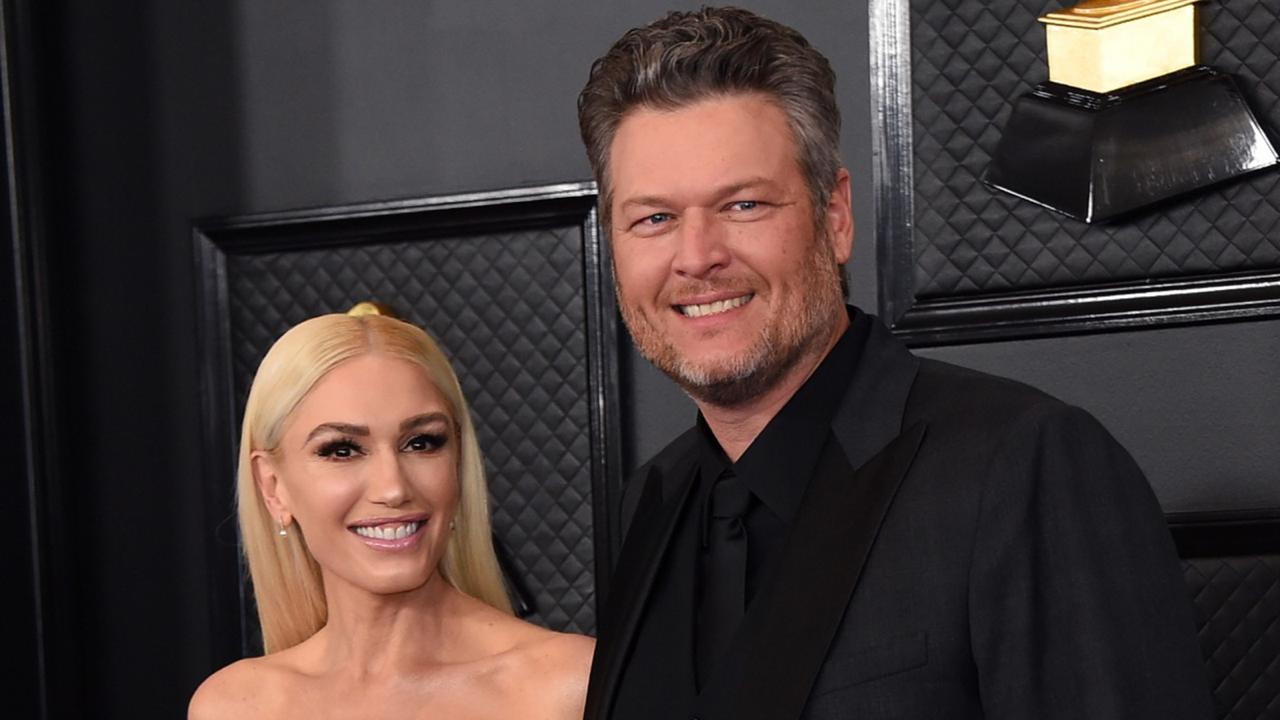 Gwen Stefani, left, and Blake Shelton arrive at the 62nd annual Grammy Awards in Los Angeles on January 26, 2020. (Photo by Jordan Strauss/Invision/AP, File)