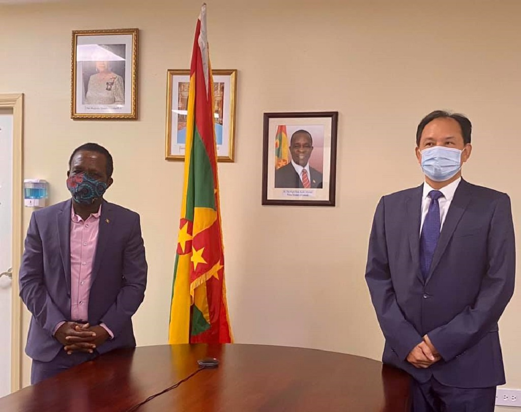 Prime Minister of Grenada Dr Keith Mitchell received a courtesy visit from Chinese Ambassador, Zhao Yongchen.