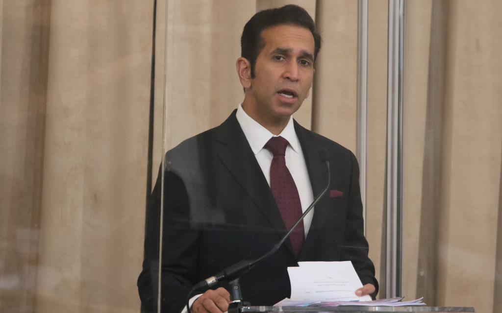 Photo: Attorney General Faris Al-Rawi. Credit: Office of the Parliament of Trinidad and Tobago.