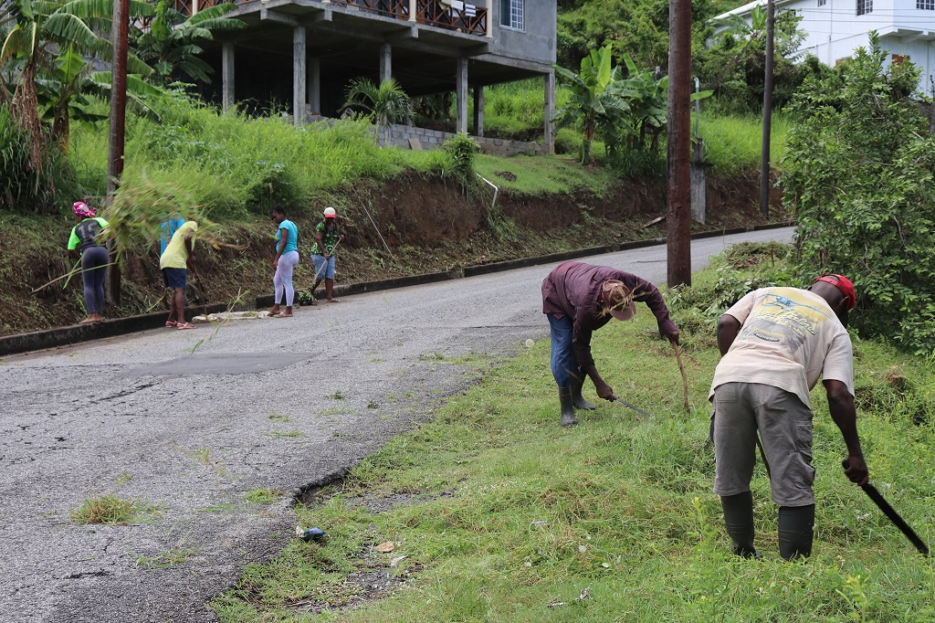 Drains and road sides being cleaned in St Vincent and the Grenadines. (Photo: BRAGSA)