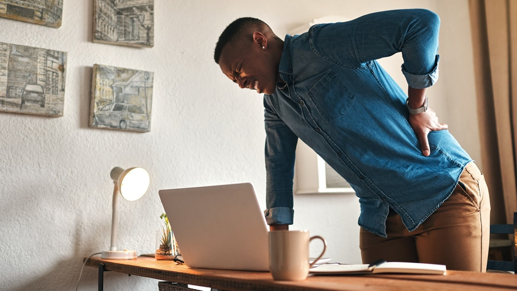 Working from home makes us sedentary which results in all sorts of issues. Photo: iStock