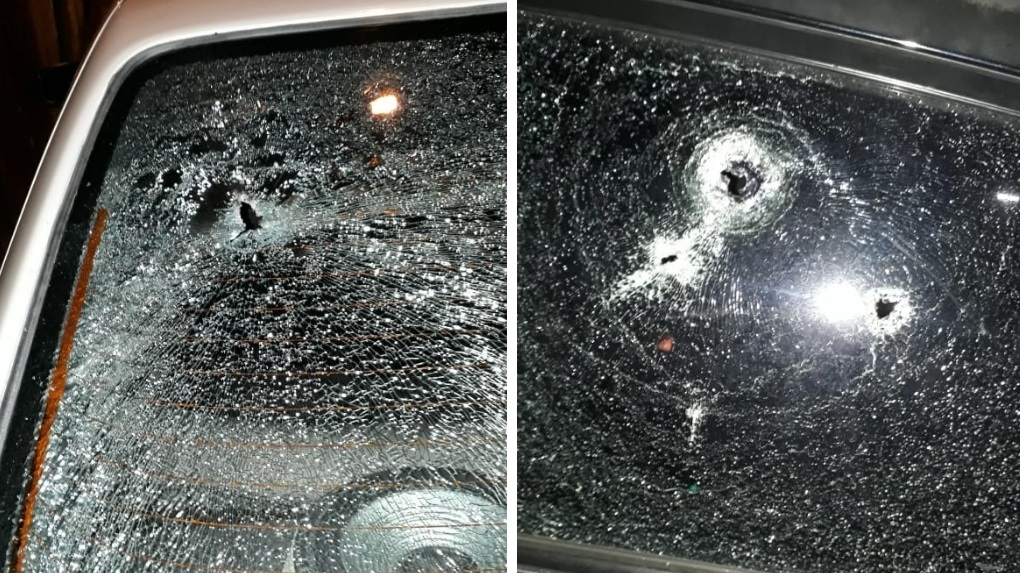 Cars damaged by bullets (FILE)